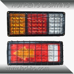 Truck Tail Light With Metal Frame